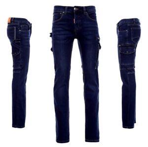 Jeans Cargo Denim Stretch Herrenhose stonewashed Größe 42-74 Arbeit Freizeit
