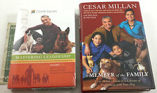 CESAR MILLAN BOOK DVD LOT MEMBER OF THE FAMILY VOL 1-3 MASTERING LEADERSHIP DOG