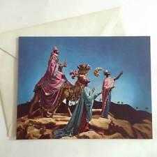 1 Vintage American Artist Christmas Card - Three Wise Men Kings Nativity
