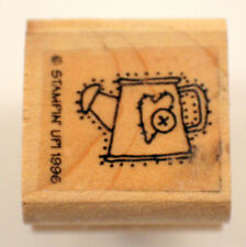 Stampin Up Watering Can Gardening Wooden Rubber Stamp