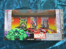 MARVEL 3 Character Cars Die-cast metal Hulk, Spider-man and Wolverine.