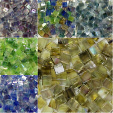About 50 Pieces Color Square Glass Mosaic Tiles For DIY Crafts Making Supplies
