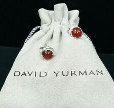 DAVID YURMAN Chatelaine Earrings with Carnelian, 10mm Sterling Silver