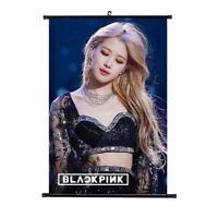 Kpop BLACKPINK Wall Scroll Poster LISA JENNIE JISOO ROSE Hängende gljxy