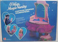 MATTEL VTG 1990 PETITE WEE LIL MISS MAGIC VANITY FURNITURE EUROPEAN SET MIP RARE