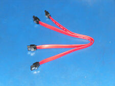 "Lot Of 2 New  10"" SATA  II Data Cable With Latch"