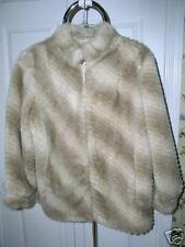 FAUX  FUR COAT WOMENS MEDIUM 8 / 10 *SHARP MUST C*