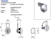 Briefkastenschloss, Hebelzylinder für RENZ R2, verschiedenschließend