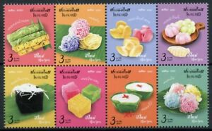 Thailand Gastronomy Stamps 2020 MNH New Year 2021 Sweets Desserts Snack 8v Block