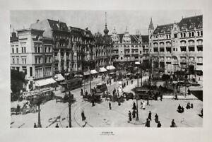 GROSSER DRUCK ALTES FOTO SPITTELMARKT BERLIN 1898