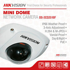 Hikvision DS-2CD2510F HD Mini Dome Network Surveillance Camera,1.3 MP, 4mm Lens