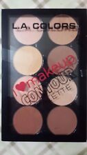 LA COLORS I LOVE MAKE UP CONTOUR PALETTE 8 BLENDABLE FACE POWDERS LIGHT MEDIUM