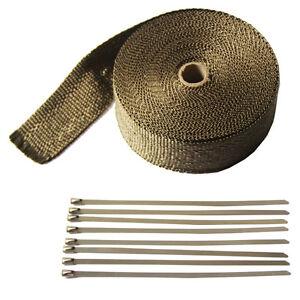Engine Heat Shield Titanium 2'' X 50' Heat Wraps Exhaust Fiberglass for cars