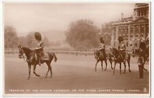 Trooping Of The Colour On Horse Guards Parade RP PPC By Tuck, Shows The King