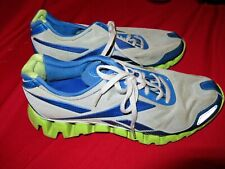 ~~REEBOK ZIG TECH PULSE Men's Blue Gray Yellow Running Shoe Sz 10 1/2~~