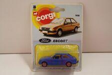 """Corgi Junior No: E105 """"Ford Escort"""" - Blue (Original 1982/UNOPENED)"""