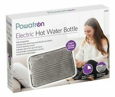 ELECTRIC RECHARGEABLE HOT WATER BOTTLE GREY BED HAND WARMER MASSAGING HEAT PAD