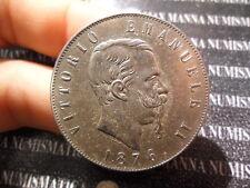 REGNO D'ITALIA VITTORIO EMANUELE II 5 LIRE 2° TIPO ARGENTO 1876 R COD.VITEMII-33