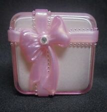 Vintage Pink Lucite Ring Gift Box with Bow J.C.M. Excellent