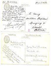NEDERLAND S.M.N 1947 2 x PPC = S.S.JOHAN DE WITT= MILITAIR  VF @1