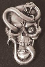 Snake Skull Dash Plaque, Guitar, Rat Rod Emblem  #8
