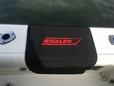 "Boston Whaler embroidered Boat Gunwale Boarding mat 20""x 36"" Black Red Logo"