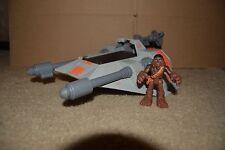 Star Wars Galactic Heroes Snowspeeder Vehicle & Chewbacca Figure Hasbro