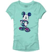 Disney Mickey Mouse Tropical World Tee Funny Junior's Slim Fit Graphic T-shirt