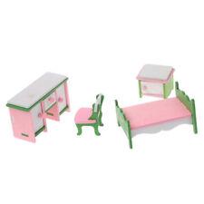 1 Set Bambino In Legno Casa Delle Bambole Mobili Casa Delle Bambole In Mini Q7Q5