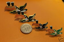 4 X Guinness  toucan flying tie or lapel enamel pin/ Pin Badge.