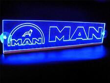 12v LED INTERIOR CABINA luz Placa Azul para MAN Camión Neón Mesa Señal Luz