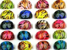 Animal Zebra Leopard Tiger Top Resin Fashion Women Rings gift pinky ring her new