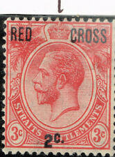 British Strait Settelment Malaya Red Cross classic stamp 1917 MLH