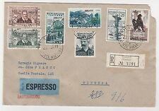 "STORIA POSTALE 1954 TRIESTE ""A""  7 VALORI SU RACC./EX Z/6596"