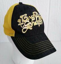 Bass Pro Shops Girl Adjustable Ball Cap Hat Yellow Denim Flowers Mesh Youth