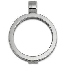 Amello Coinsfassung 30mm Kettenanhänger Silber Edelstahlschmuck ESC001J