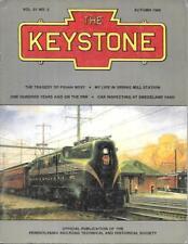 The Keystone PRR Fall 1988 PX5444 West Wreck Spring Mill Station Swedeland Yard