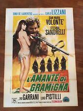 MANIFESTO 2F P,L'AMANTE DI GRAMIGNA Gian Maria Volonté  Sandrelli Lizzani sex