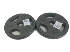 """5 Lb CAP Pair 1"""" Standard Grip Barbell Dumbbell Weights Plates 10lbs Total. NEW"""