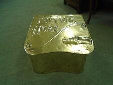 Vintage Brass Shaped Slipper Box