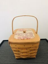 Longaberger Basket with Lid Protector 1998 Dresden Ohio Usa