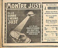 PARIS RUE LA BOETIE ETS AURICOSTE MONTRE JUST PUBLICITE 1911