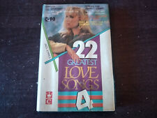 VARIOUS ARTISTS - 22 Greatest Love Songs 4 CASSETTE TAPE / Made In Indonesia