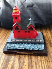"Holland Harbor Michigan Oneida Studios Lighthouse Point Collection 1998, 6"" Tall"