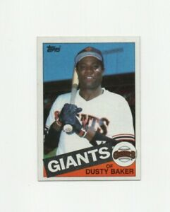 1985 Topps Dusty Baker #165 Baseball Card - San Francisco Giants HOF