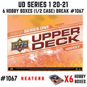 Tampa Bay Lightning - 20-21 UD SERIES 1 HOCKEY HOBBY 6 BOX HALF CASE BREAK #1067