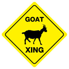 Goat Xing Funny Novelty Crossing Sign