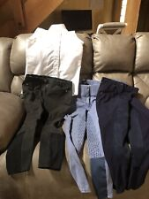 Three Pairs Full Seat Breeches and Show Shirt - 26 R Ariat, Horze, Beaufort