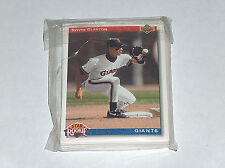 1991 UPPER DECK SF San Francisco Giants MLB Baseball Team Tarjetas Set EX con /