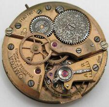 Omega 370 17 jewels watch movement for parts ... * balance wheel broken *